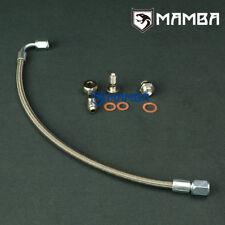 Turbo Oil Feed Line Kit For SUZUKI GSXR 1000 w/ Garrett GT25R GT28R Ball Bearing