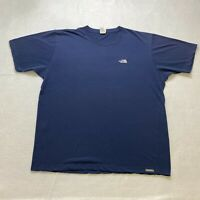 The North Face T-Shirt Size XL Blue Embroidered Vapor Wick Short Sleeve Mens