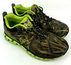 Realtree Mens Low Top Constrictor Camo Green Neon Green Sneakers Size 8