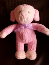 TESCO  Pink White Baby Lamb Sheep Comforter Soft Beanie Hug Toy lost spare A8