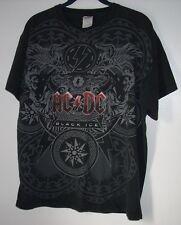 Men's T-Shirt, AC/DC Black Ice,Size L,Black,Short Sleeve,Graphic T,Women,Delta