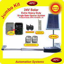 Solar Single Swing Gate opener, solar gates, power solar gates