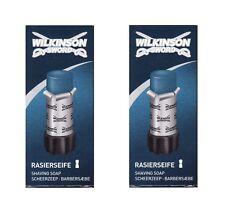 (100g=7,90€) 2x Wilkinson Sword Rasierseife Stick , 2x50g