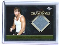 WWE Dean Ambrose 2015 Topps Chrome Event Used Night of Champions Mat Relic Card