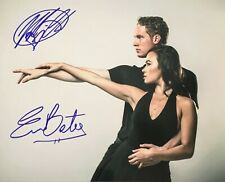 Evan Bates & Madison Chock Figure Skating USA Olympics Signed 8x10 Photo COA E2