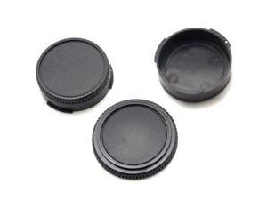 3 Canon Caps 1 Camera Body Cap 2 Rear Lens Caps  FD A-1 F-1 AE-1 T-90 F1N NEW