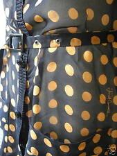 Roberto Cavalli Just orange black polka dot silk V-neck cardigan tunic jacket S