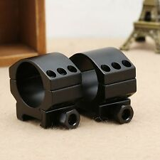 Low Profile 30mm Scope Mount Ring 6 Bolts with 20mm Weaver Picatinny Rail 2pcs