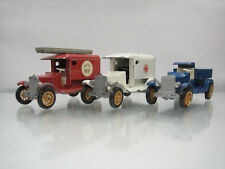 Diecast Efsi Holland Lot 3 T Ford 1919 Fire Dept/Ambulance/Cargo Good Condition