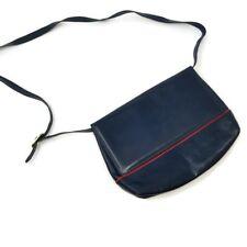 c17dc5cee8 Vintage Salvatore Ferragamo Dark Blue Navy Red Handbag Crossbody Bag Purse