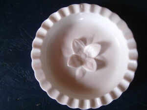 Vntg Heavy Milk glass Floral Hobnail Ashtray White Trinket Dish Ladies Luncheon