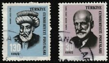 A set of 2 used stamps, COMPOSERS and HISTORIANS 1966