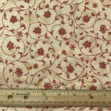 Marcus Brothers Textiles Fabrics 28 x 19 piece pink floral cream background F527