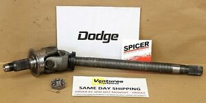 AXLE SHAFT FRONT DRIVERS SIDE WITH NUT DODGE RAM 1500 OR RAM 2500 94-01