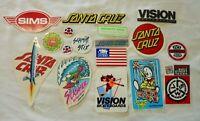 Vintage 1980's Skateboard 17 Stickers Santa Cruz Air Walk Vision Jeff Grossoi
