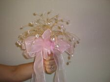 Quinceanera Bouquets (2) Pink with crystal stones