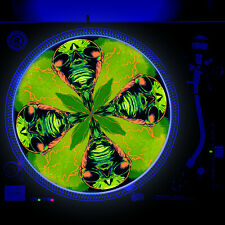 Dj Turntable Slipmat 12 inch Glow under Blacklight - Iron Mummy