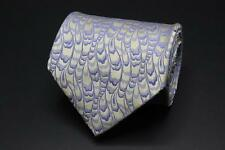 STEFANO RICCI Silk Tie. Brown with Whimsical Purple Pattern.