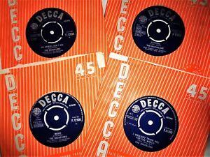 "THE BACHELORS VINYL 45 LOT MINT UK Decca 7"" Single Records Oh Samuel/Ramona etc"