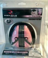 Pink Pro-Amp Electronic High Performance Hearing Protection by Radians Pap700Cs