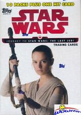2017 Topps Journey to Star Wars: The Last Jedi EXCLUSIVE Blaster Box-HIT Pack!