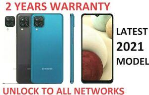 New Samsung Galaxy A12 Dual Sim 2021 64GB Smartphone 4G LTE Black Blue White