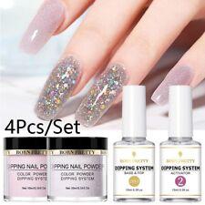 4Pcs BORN PRETTY Dipping Powder Liquid Natural Dry Dipping System Nail Art Kit