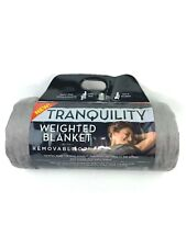 """Tranquility Weighted Throw Blanket 12 lb Gray 48x72"""" Heavy Quilted Sensory Adult"""