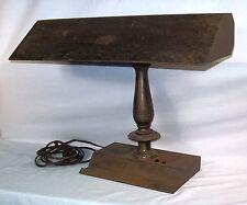 Vtg Metal Desk Piano Lamp Heavy Antique Industrial Bronze Art Deco Old