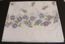 Martex Luxor Twin Sheet Floral Top  Blue Roses
