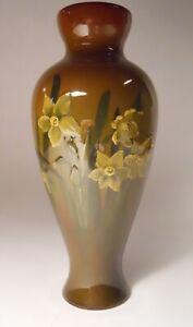 Rookwood Pottery Standard Glazed Vase with Narcissus Design, 1896, Artist Signed