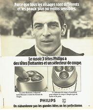 Publicité Advertising 088  1975   rasoir éléctrique 3 tetes flottantes Philips