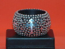 Pre-Owned Women's Biker Beaded Cross Bracelet
