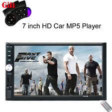"""7"""" Touch Screen Car MP5 Player Stereo Radio Bluetooth Mirror Link USB FM 2 DIN"""