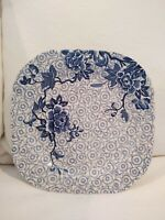 Johnson Brothers Lotus Blue Square Salad Plate