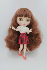 "12"" Blythe Doll from factory Nude Brown Curly Hair Matte Face Jointed Body"