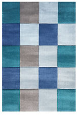 Kinderteppich Happy Rugs Checker blau 160x230cm