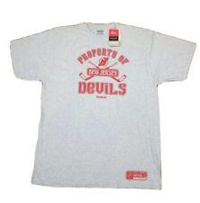 Reebok T-shirt XL New Jersey Devils Face Off - Gray Color