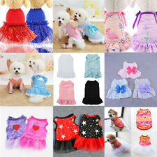Puppy Pet Dog Clothes for Small Girl Dog Sweety Cotton Princess Dress Apparel**