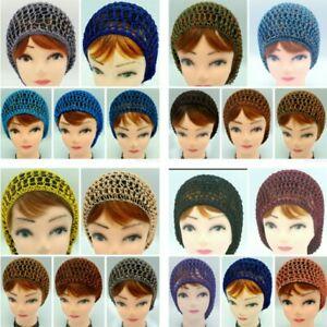 Women Vintage Ladies Mesh Hair Net Snood Crochet Cap Rockabilly Knit Sleeping