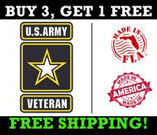 US Army Veteran Window Sticker, Army Veteran Bumper Sticker MADE IN USA