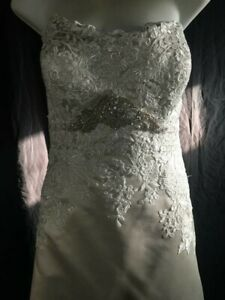 Allure style nbr 2664- size 18 - ivory/silver - original price $1,060