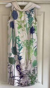 Marc Cain 100% silk sleeveless shift dress size N2 UK 8/10 - Ex Condition