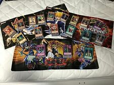 HUNDREDS OF PLAYED YUGIOH CARD LOT YU-GI-OH COLLECTION AND 3 GAME PLAYMATS