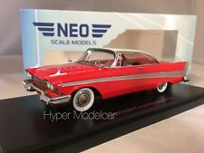 Neo Scale Models 1/43 Plymouth Fury Hard Top 1958 Rojo Neo46087
