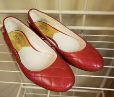 Michael Kors Ramsey Ballet Flats Red Quilted Leather size 9M