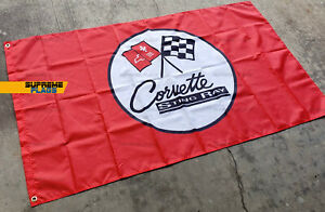 Corvette Flag 3x5 ft Banner Sting Ray Red