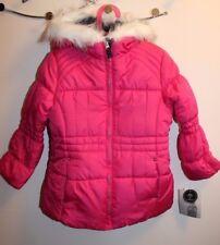 New London Fog hooded puffer jacket for little girls size L (6X)