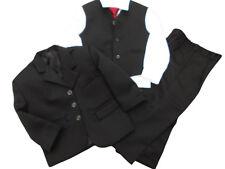 BNWT boys 5 piece black smart formal suit wedding party page boy prom age 2 YRS