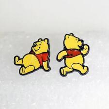 Pooh the winnie bear metal earring ear stud earrings studs one pair new